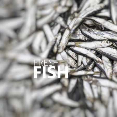 Fresh Fish. Abundance of fresh fish on market display.