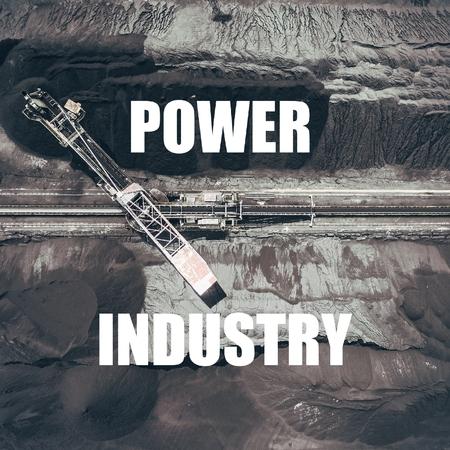 Power Industry.Mining excavator on the bottom surface mine.