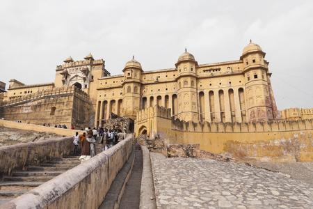 jagmandir: Amber Fort in Jaipur, Rajasthan, India Editorial