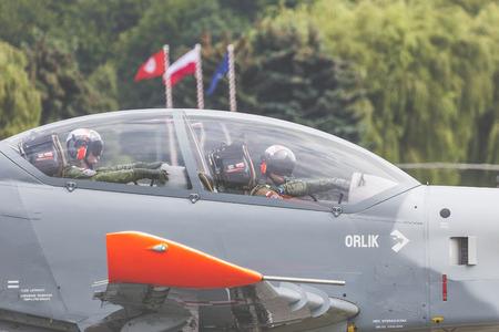 RADOM, POLAND - AUGUST 26: Orlik (Poland) aerobatic display team at Air Show Radom 2017 event on August 26, 2017 in Radom, Poland Editorial