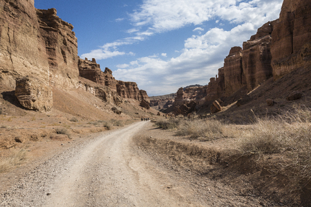 Charyn Canyon and the Valley of Castles, National park, Kazakhstan.