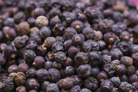 Juniper berries scattered Stock Photo