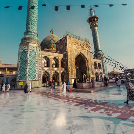 TEHERAN, IRAN - OCTOBER 03, 2016: People walking around Emamzadeh Saleh in Teheran, Iran.