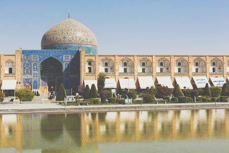 ISFAHAN, IRAN - OCTOBER 06, 2016: Sheikh Lotfollah Mosque at Naqhsh-e Jahan Square in Isfahan, Iran Editorial