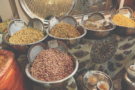 Colorful spices on the bazaar. Iran. Isfahan. Zdjęcie Seryjne