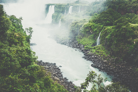 Iguassu Falls, the largest series of waterfalls of the world, view from Brazilian side Zdjęcie Seryjne