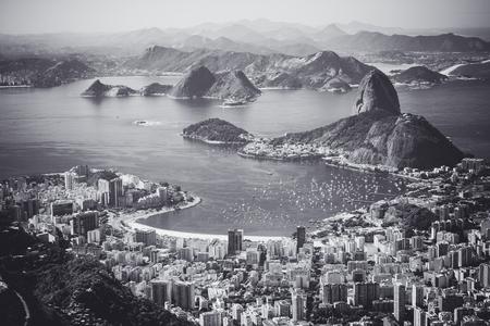 Rio de Janeiro, Brazil. Suggar Loaf and Botafogo beach viewed from Corcovado Zdjęcie Seryjne