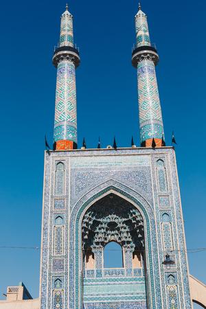 Islamic mausoleum old architecture mosque minaret iran.