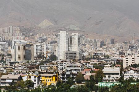 View from The Milad Tower in Tehran, Iran. Zdjęcie Seryjne