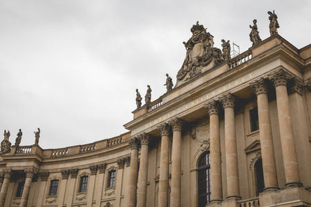 BERLIN, GERMANY - DECEMBER 06,2017: Humboldt University Berlin. Éditoriale