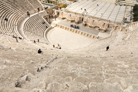 View on the ancient Roman Theater located in capital of Jordan, Amman