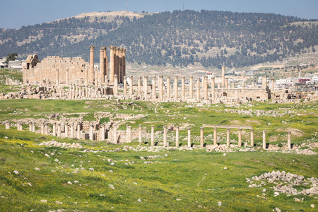 Ancient Jerash. Ruins of the Greco-Roman city of Gera at Jordan