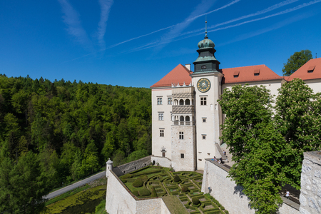 PIESKOWA SKALA, POLAND - MAY 01, 2018: Castle Pieskowa Skala near Krakow, Poland.