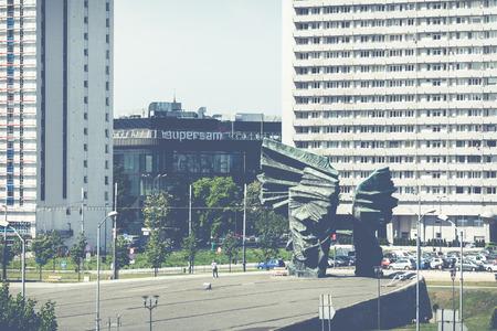 KATOWICE, POLAND - MAY 05, 2018: Silesian Insurgents Monument in Katowice, Poland. Katowice is the 10th largest city in Poland. Publikacyjne