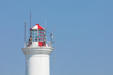 Lighthouse in Colonia del Sacramento, small colonial town, Uruguay. Imagens - 101189827