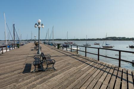 Pier at Marina - Colonia del Sacramento, Uruguay Imagens - 101098506