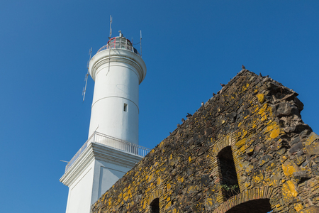 Lighthouse in Colonia del Sacramento, small colonial town, Uruguay. Imagens - 101221823