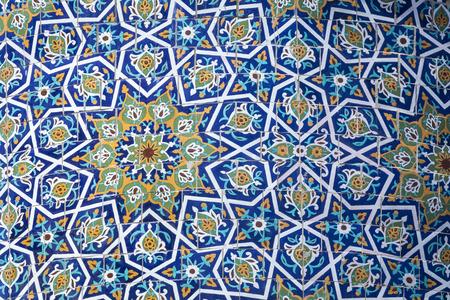 Decorated dome at Barak Khan madrasah. Hast Imam Square (Hazrati Imam) is a religious center of Tashkent.
