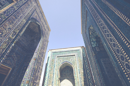 Historical holy cemetery of Shahi Zinda in Samarkand, Uzbekistan. Editorial