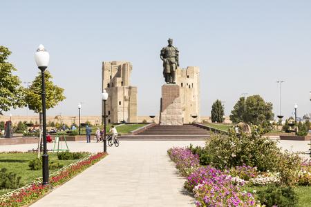 The monument to the Turco-Mongol conqueror Amir Timur in Shahrisabz, Uzbekistan. Editöryel