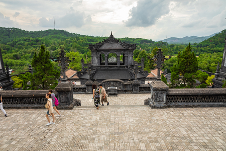 Imperial Khai Dinh Tomb in Hue, Vietnam. A UNESCO World Heritage Site. Editorial