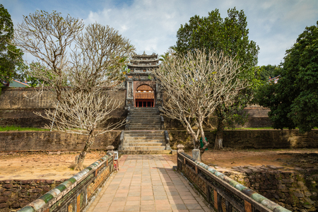 Imperial Minh Mang Tomb in Hue, Vietnam.