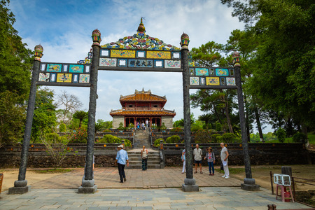 Imperial Minh Mang Tomb in Hue, Vietnam. Editorial