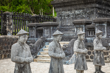 Imperial Khai Dinh Tomb in Hue, Vietnam. A UNESCO World Heritage Site.