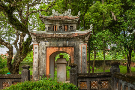 HOA LU, VIETNAM - NOVEMBER 15, 2018:  Temple of Dinh Tien Hoang at Hoa Lu Ninh Binh, first capital of Vietnam. Popular tourist destination in Ninh Binh Province. Editorial