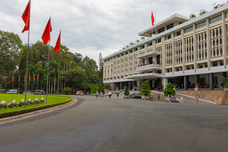 HO CHI MINH , VIETNAM- NOVEMBER 23, 2018 : Reunification Palace, landmark in Ho Chi Minh City, Vietnam.