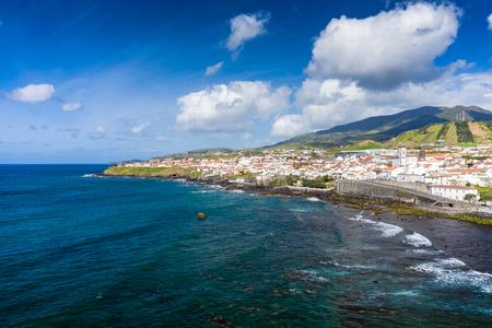 Aerial view of Atlantic coast at Vila Franca do Campo, Sao Miguel island, Azores, Portugal.. Photo made by drone. 写真素材