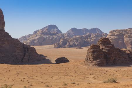Wadi Rum Red Desert, Jordan, Middle East. Standard-Bild - 124316521