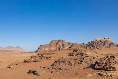 Wadi Rum Red Desert, Jordan, Middle East. Standard-Bild - 124316564