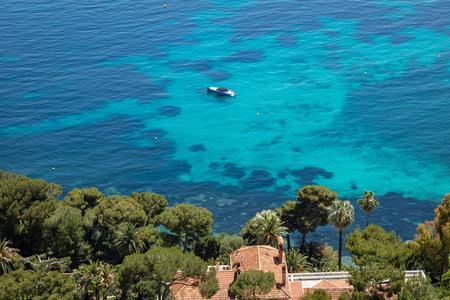 Azure Coast of Nice at French Riviera 版權商用圖片