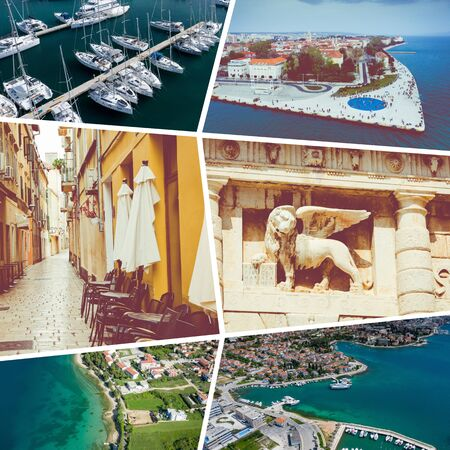 Collage of  Zadar - Croatia - travel background - my photos Foto de archivo - 129643762