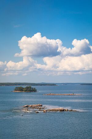 Picturesque landscape with island. at Baltic Sea. Aland Islands, Finland. Europe. Stock Photo