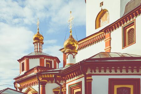 The Cathedral of the Epiphany of the Lord. Orthodox Church, Catholic Church. Irkutsk, Siberia, Russia.