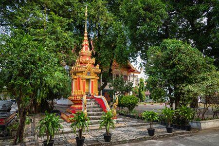 Buddist temple Vat Haysoke in Vientiane. Laos. Asia.