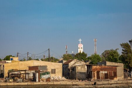 JOAL-FADIOUTH, SENEGAL - NOVEMBER15, 2019: View over historic Fadiauth Island. Senegal. West Africa.