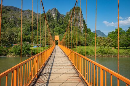 Bridge in Vang Vieng, Laos Southeast Asia.