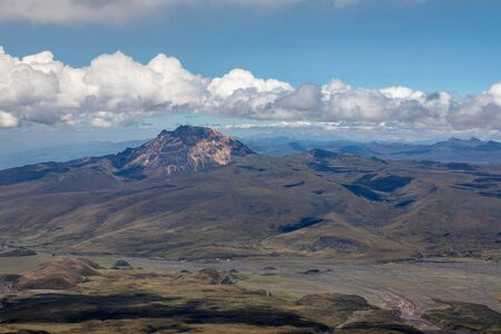 View from Cotopaxi volvcano during trekking trail. Cotopaxi National Park, Ecuador. South America. Foto de archivo