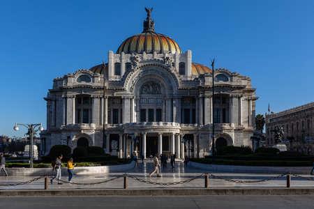 Fine Arts Palace - Palacio de Bellas Artes cultural center in Mexico City, Mexico.