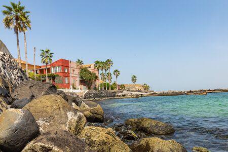 Traditional architecture at Goree island, Dakar, Senegal. West Africa. Stock Photo