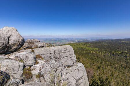 Stolowe Mountains National Park view from Szczeliniec Wielki near Kudowa-Zdroj, Poland. A popular destination for trips in Poland.