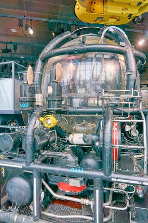 subsea: Stavanger, Norway - July 26, 2015:  Bathyscaphee subsea equipment in Norwegian Petroleum Museum. Fjord - Boknafjord, county Rogaland region Vestlandet.