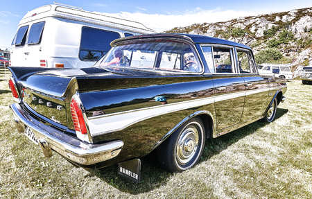 Froya Island Norway 24 July 2016 Back Of The Classic Rambler