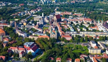 Nysa city aerial view  photo