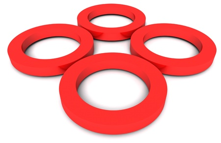 3d red wheels photo