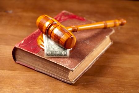 judge gavel  and book photo