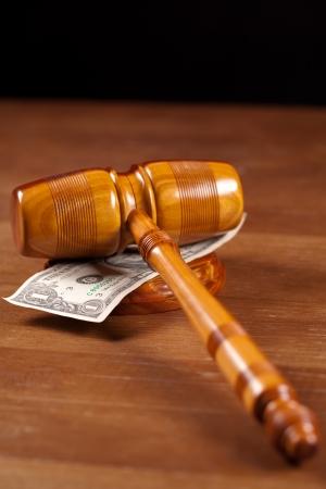 judge gavel  and money photo